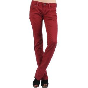 Rock Revival Holly Red Double Pocket Jeans Size 27